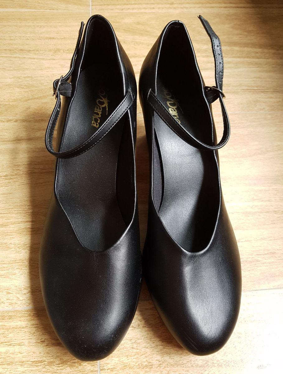 f504457b1b sapato de dança de salão em couro preto - sapatos só dança