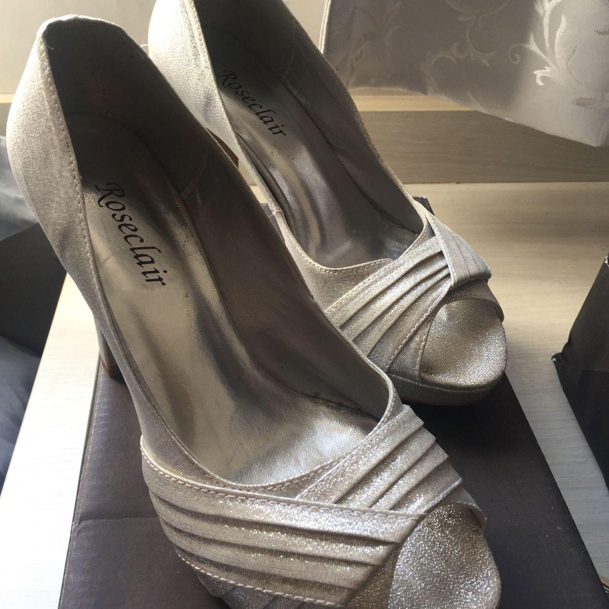 26e1bd1af Sapato de Festa Prata | Sapato Feminino Roseclair Usado 23125397 | enjoei