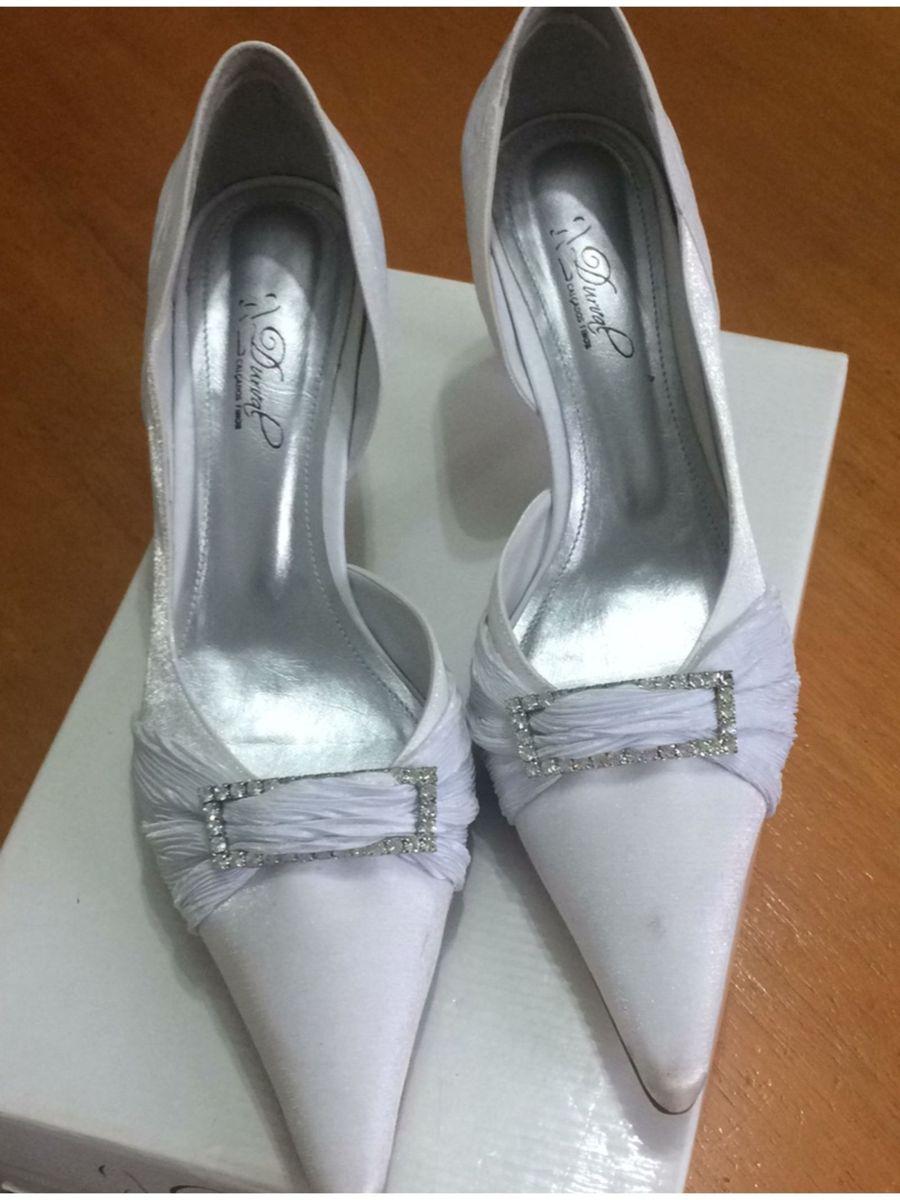 bc21e3b41 Sapato de Noiva, Branco, Número 38 | Sapato Feminino Durval Calçados ...
