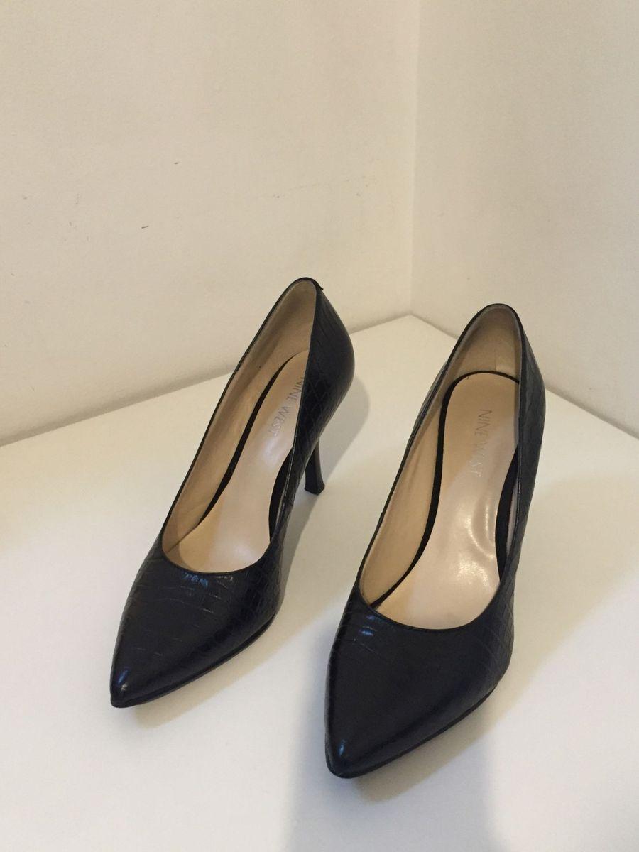 Sapato de Salto Alto Preto Nine West   Sapato Feminino Nine West ... 3fe3a36496