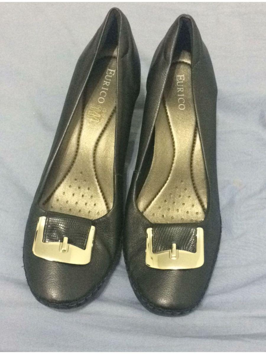 fd7e1ddad4 sapato de salto grosso em couro - sapatos eurico-usaflex-42