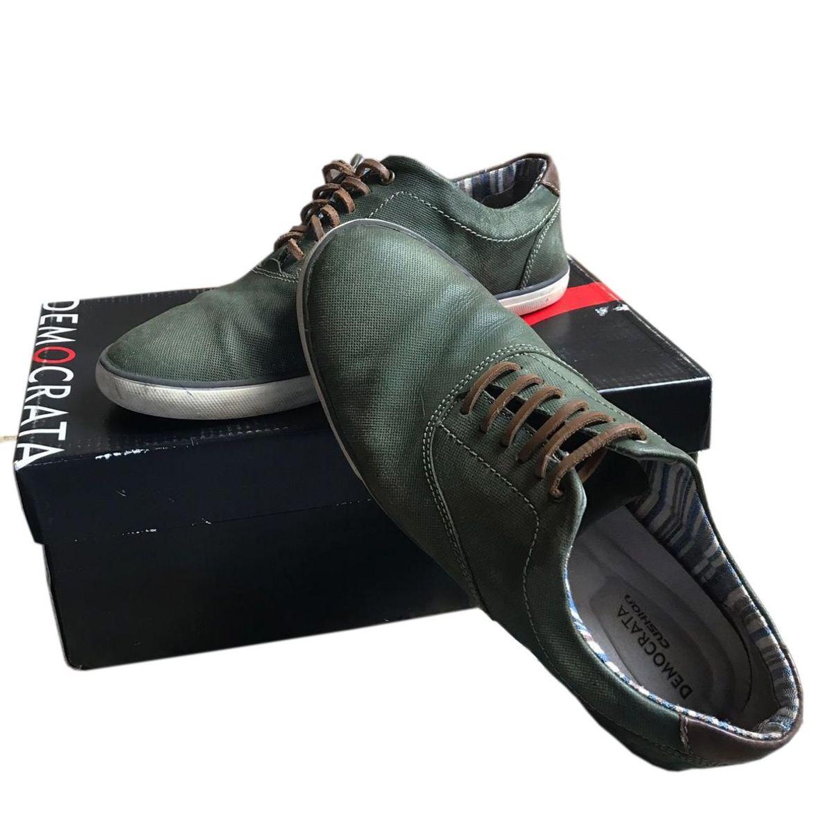 26d94de05 Sapato Democrata Couro Verde Musgo | Sapato Masculino Democrata Usado  33035928 | enjoei