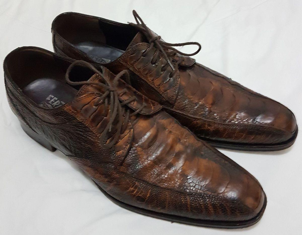 Sapato Fino Couro Crocodilo   Sapato Masculino Salvatore Ferragamo ... 44918d57dc