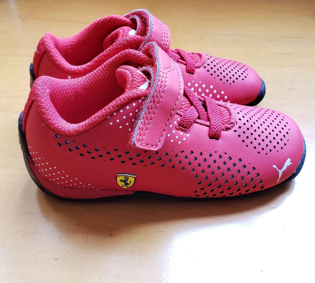 Sapato Infantil Puma Ferrari Calcado Infantil Para Meninos Puma Usado 38164241 Enjoei