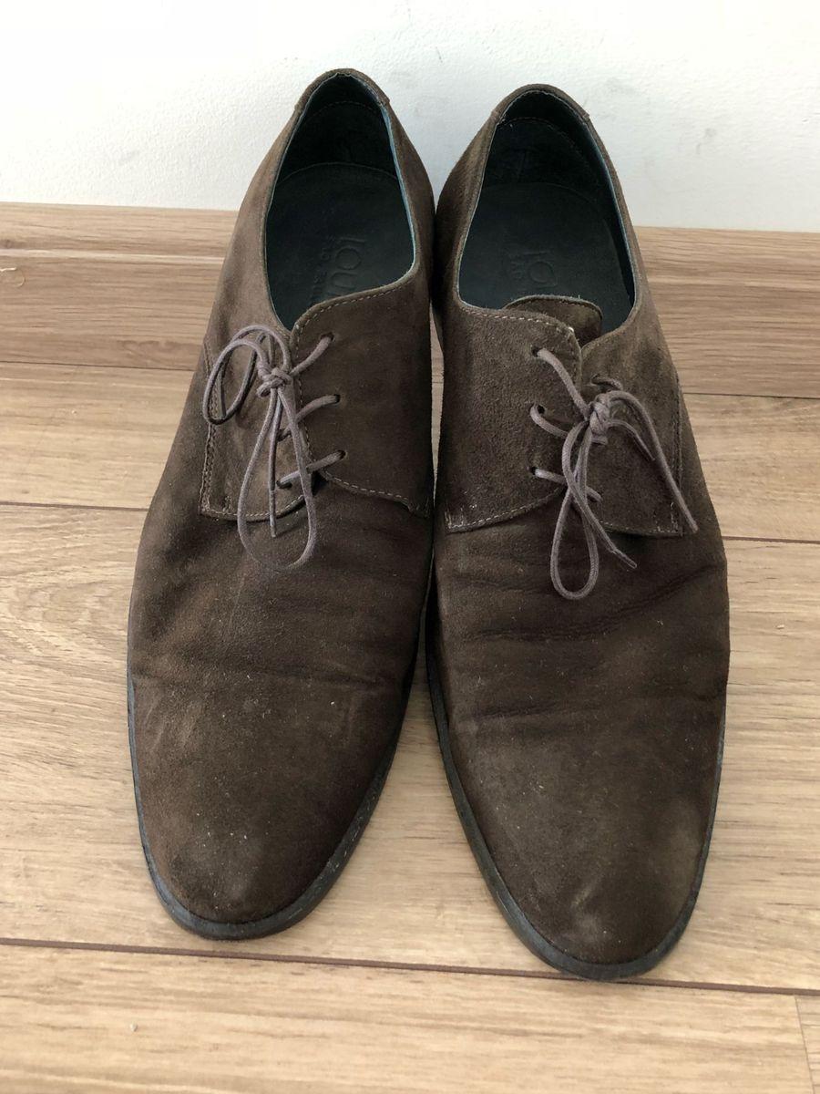 6e313787c0 sapato louie camurça marrom café novinho - sapatos louie