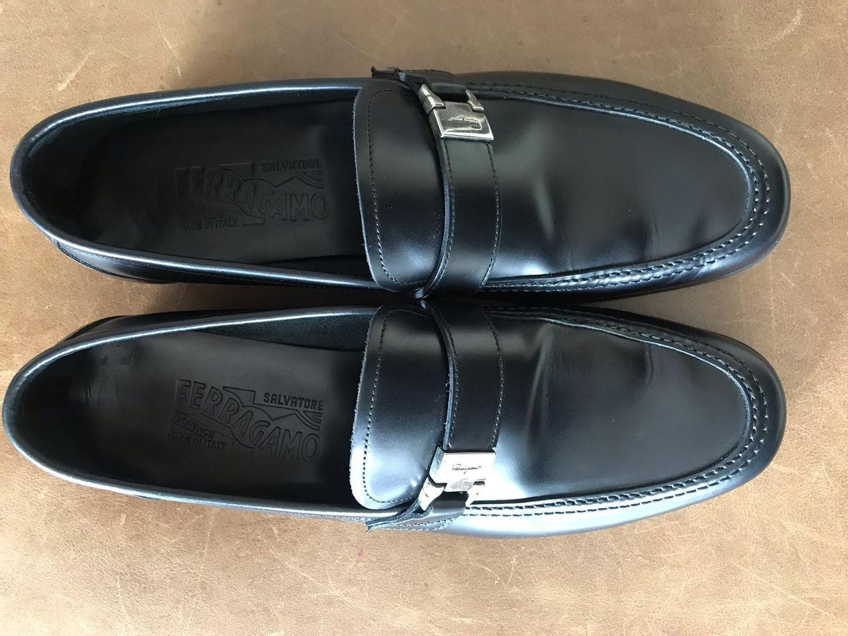 f91b33b8a048c sapato masculino preto salvatore ferragamo - sapatos salvatore ferragamo