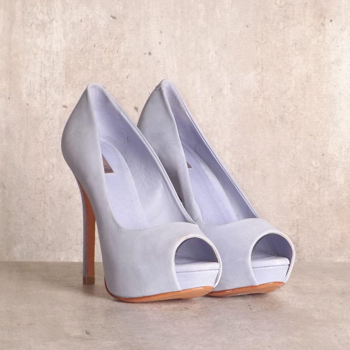 sapato peep toe azul schutz - sapatos schutz