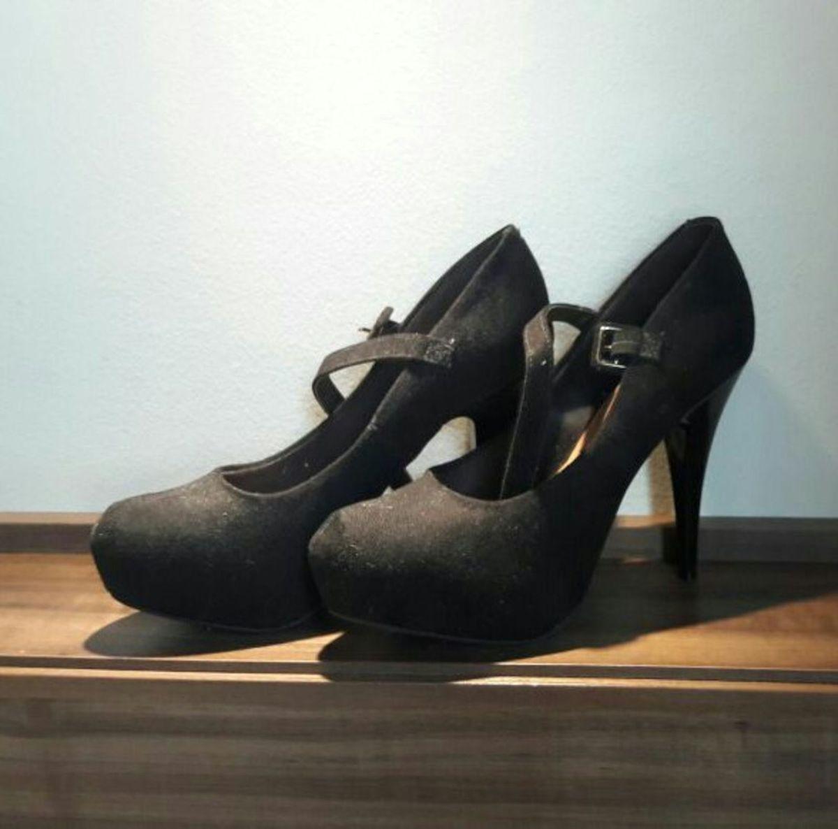 04857ff497 sapato plataforma preto camurça - sapatos vizzano