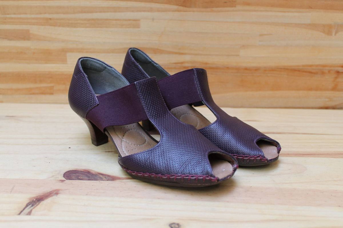 856b06003 Sapato Roxo Usaflex | Sapato Feminino Binne Comfort Usaflex Usado ...