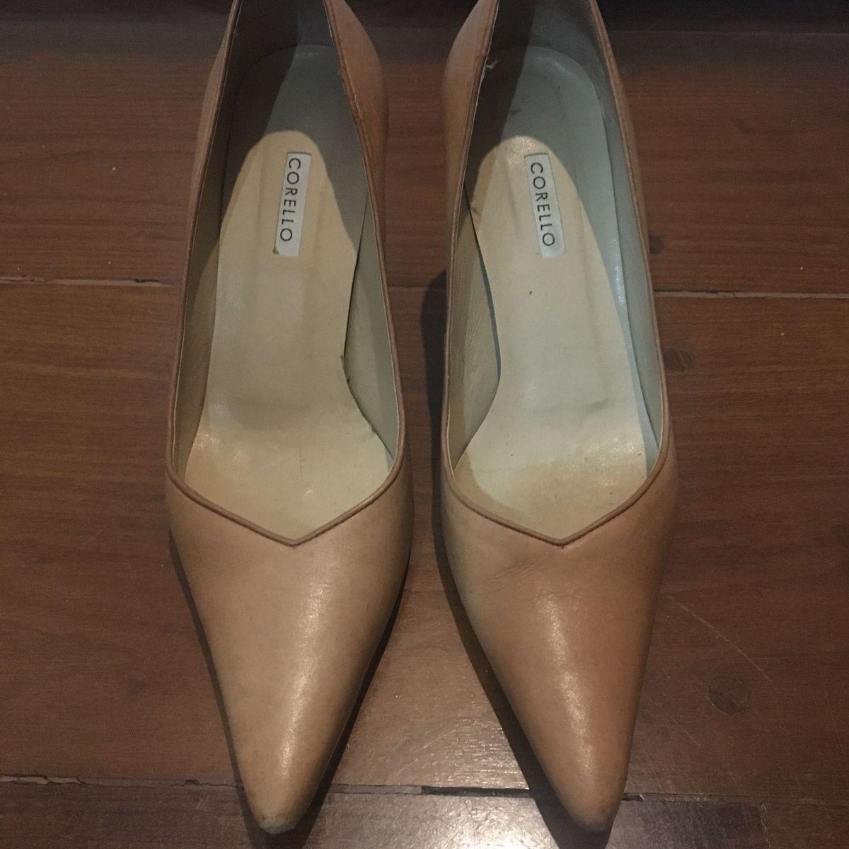 08ac1a3e59 Sapato Scarpin Bege 35 Salto Médio Corello