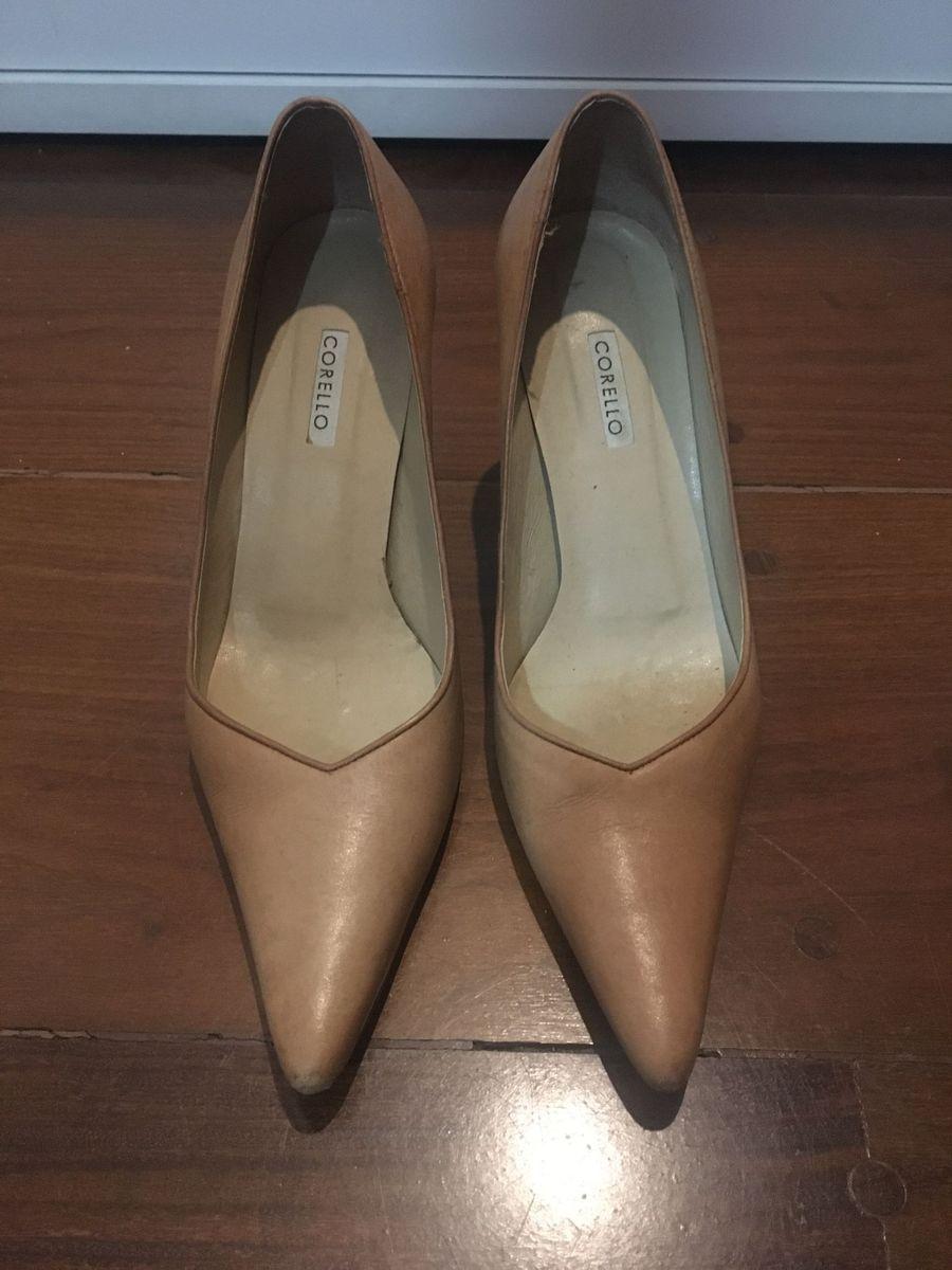 de31f50341 sapato scarpin bege 35 salto médio corello - sapatos corello