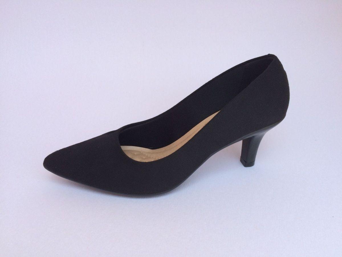 c3b7226ca sapato scarpin 37 beira rio camurça preto salto médio 3td1 - sapatos beira  rio