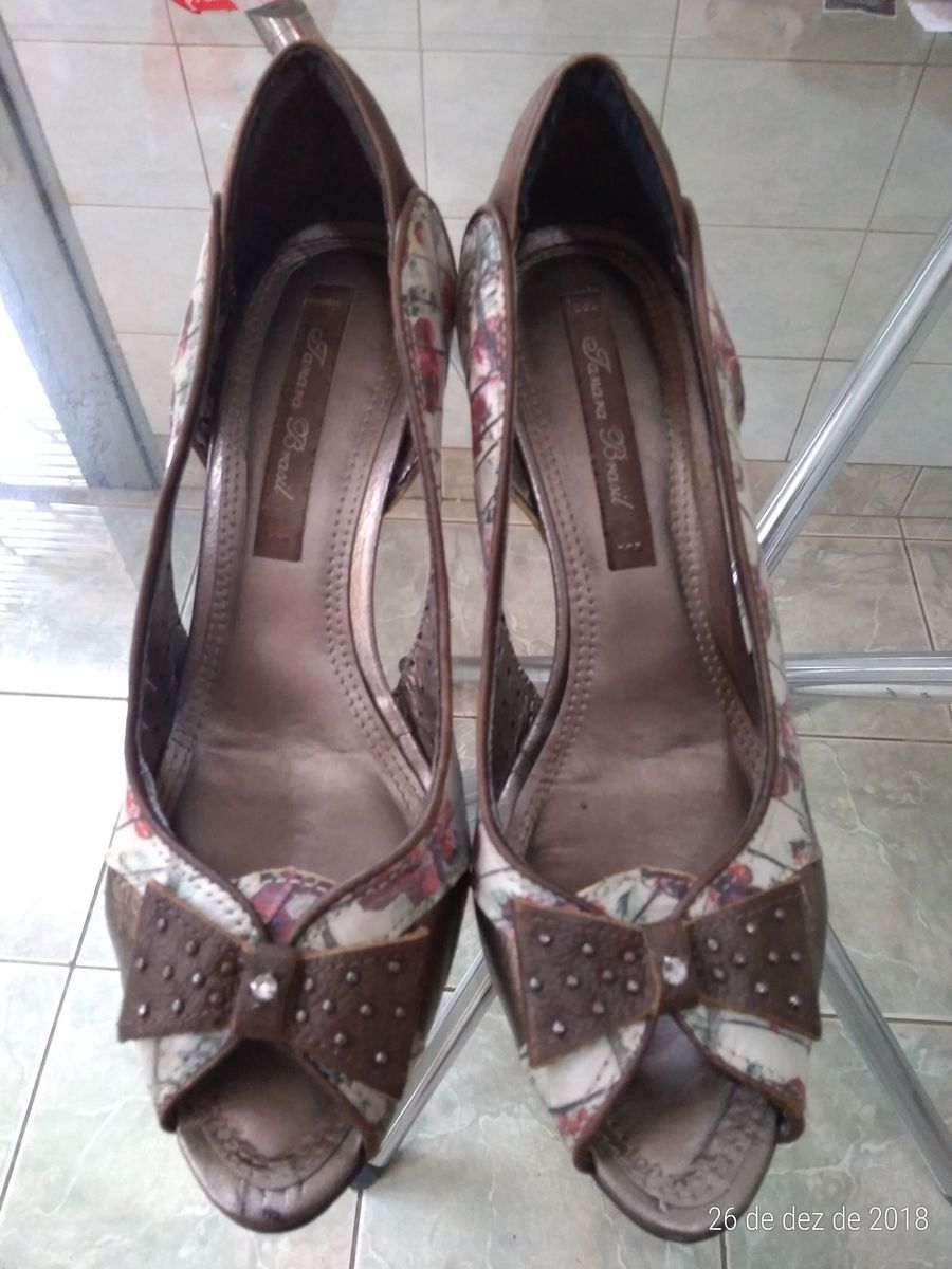 440b17972 Sapato Scarpin Tanara Rosas - Numeração 37 | Sapato Feminino Tanara ...