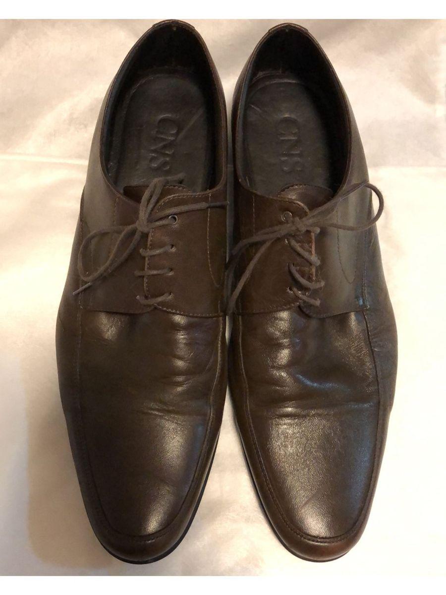 9c9dc1e5cb Sapato Social em Couro Marrom Escuro Cns | Sapato Masculino Cns ...