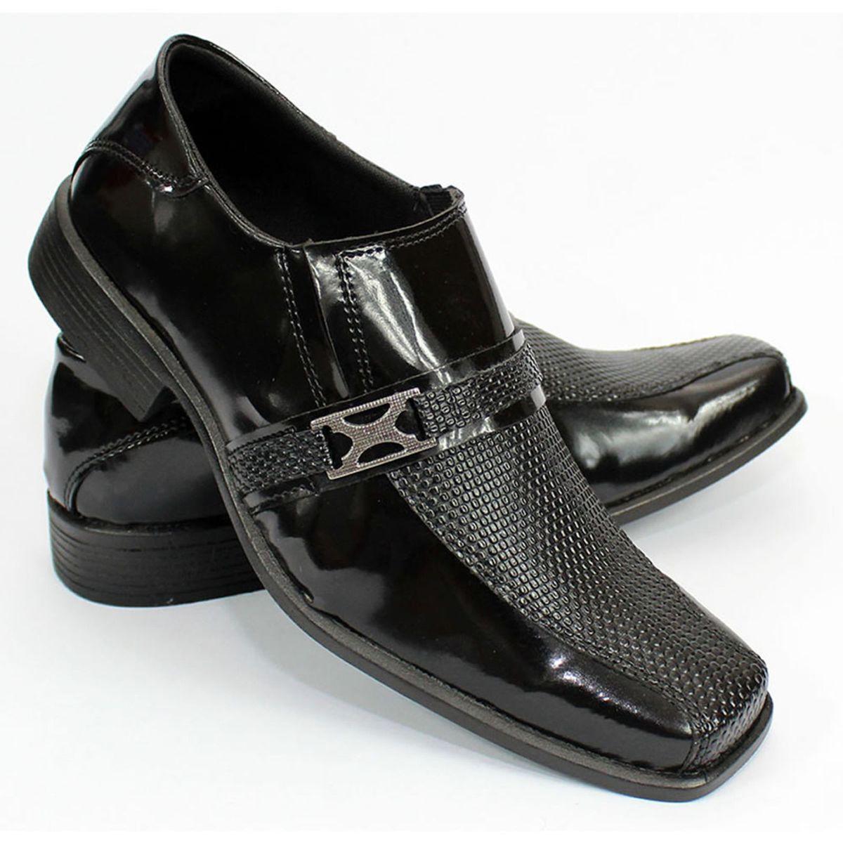 9e74dab190 Sapato Social Verniz Bico Quadrado