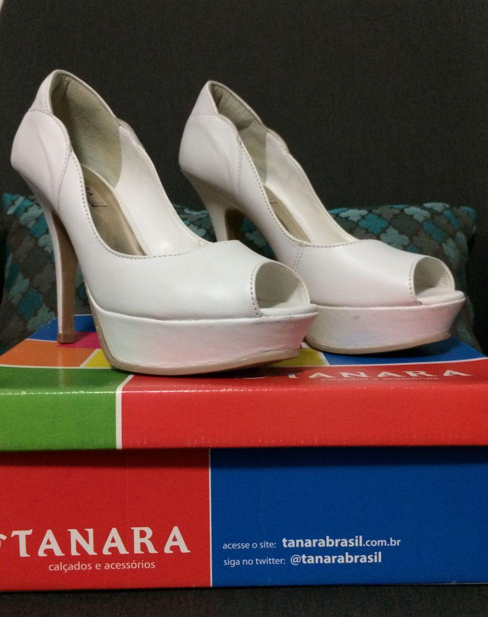 4c1edabac Sapato Tanara Branco 36, Meia Pata/peep Toe, Noiva | Sapato Feminino ...