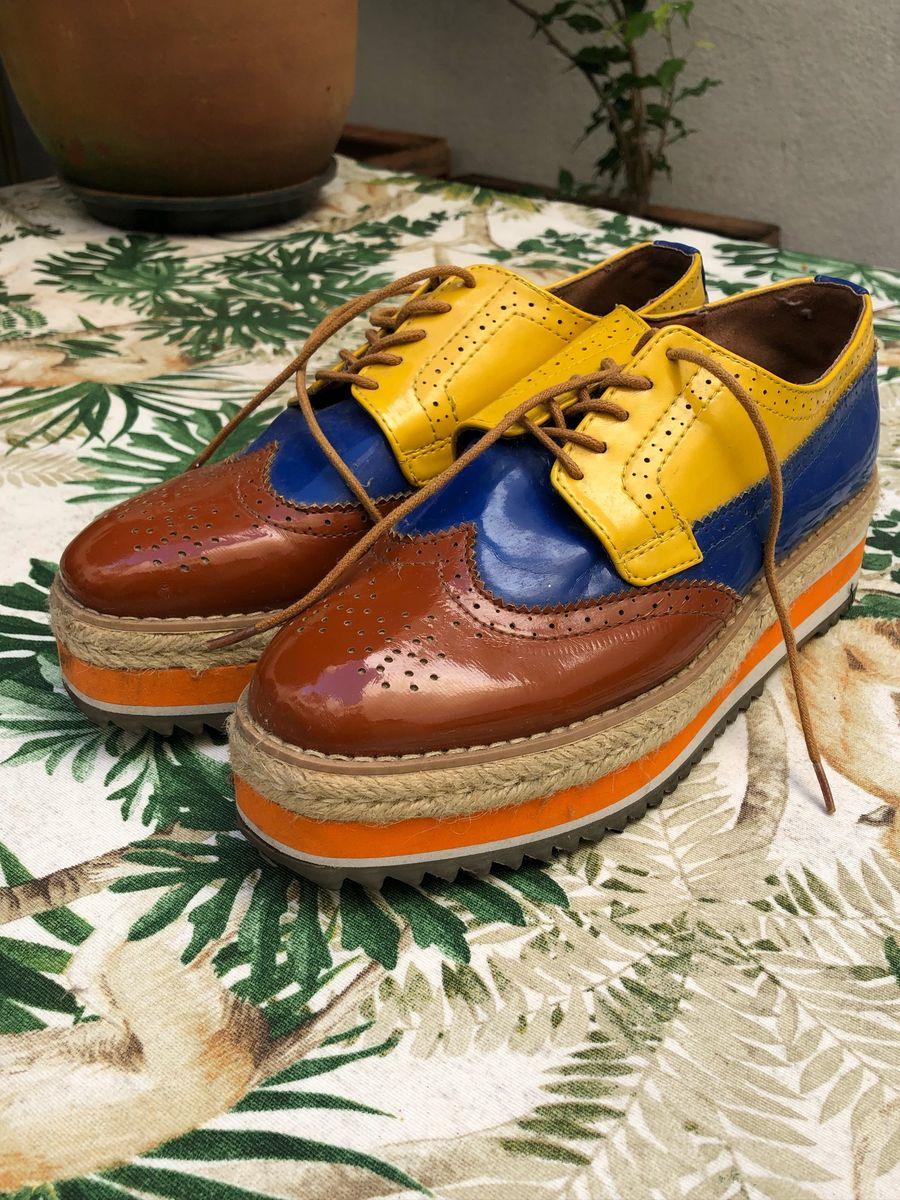 sapatos coloridos oxford - sapatos paris