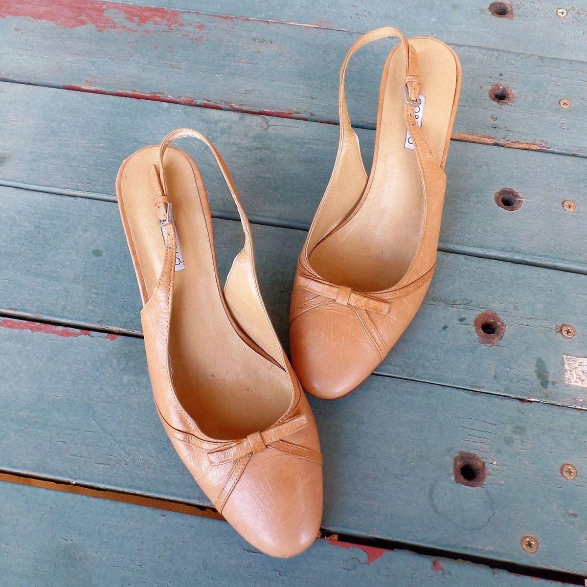 9cd97858e Scarpin Bico Redondo Nude Corello | Sapato Feminino Corello Usado 24663209  | enjoei