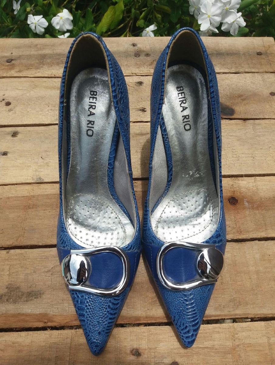 scarpin couro - sapatos beira rio