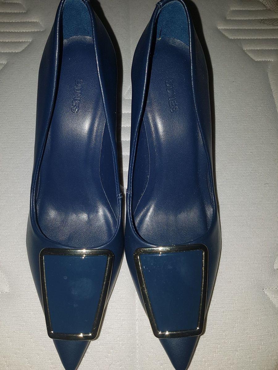 c073f5bee3 scarpin dunes tamanho 35 novo com etiqueta cor azul marinho - sapatos dunes