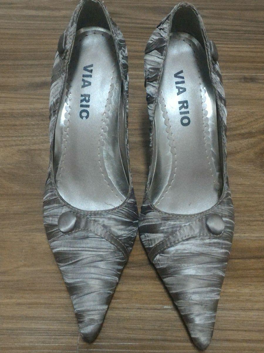 cf518fd71 Scarpin Marron Metalizado (cobre) | Sapato Feminino Via Rio Nunca ...