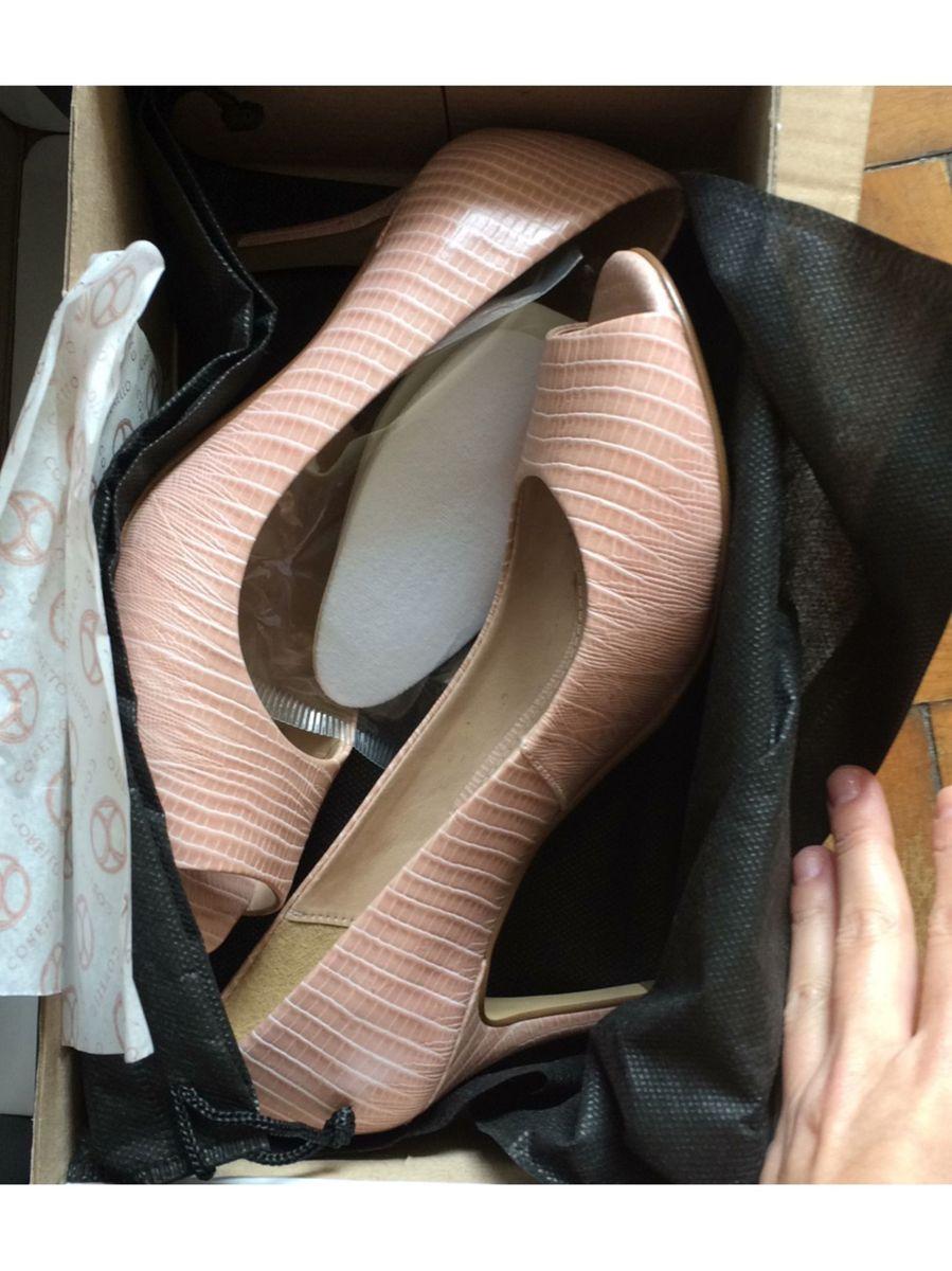 63c915609a scarpin nude  scarpin corello couro legítimo - sapatos corello