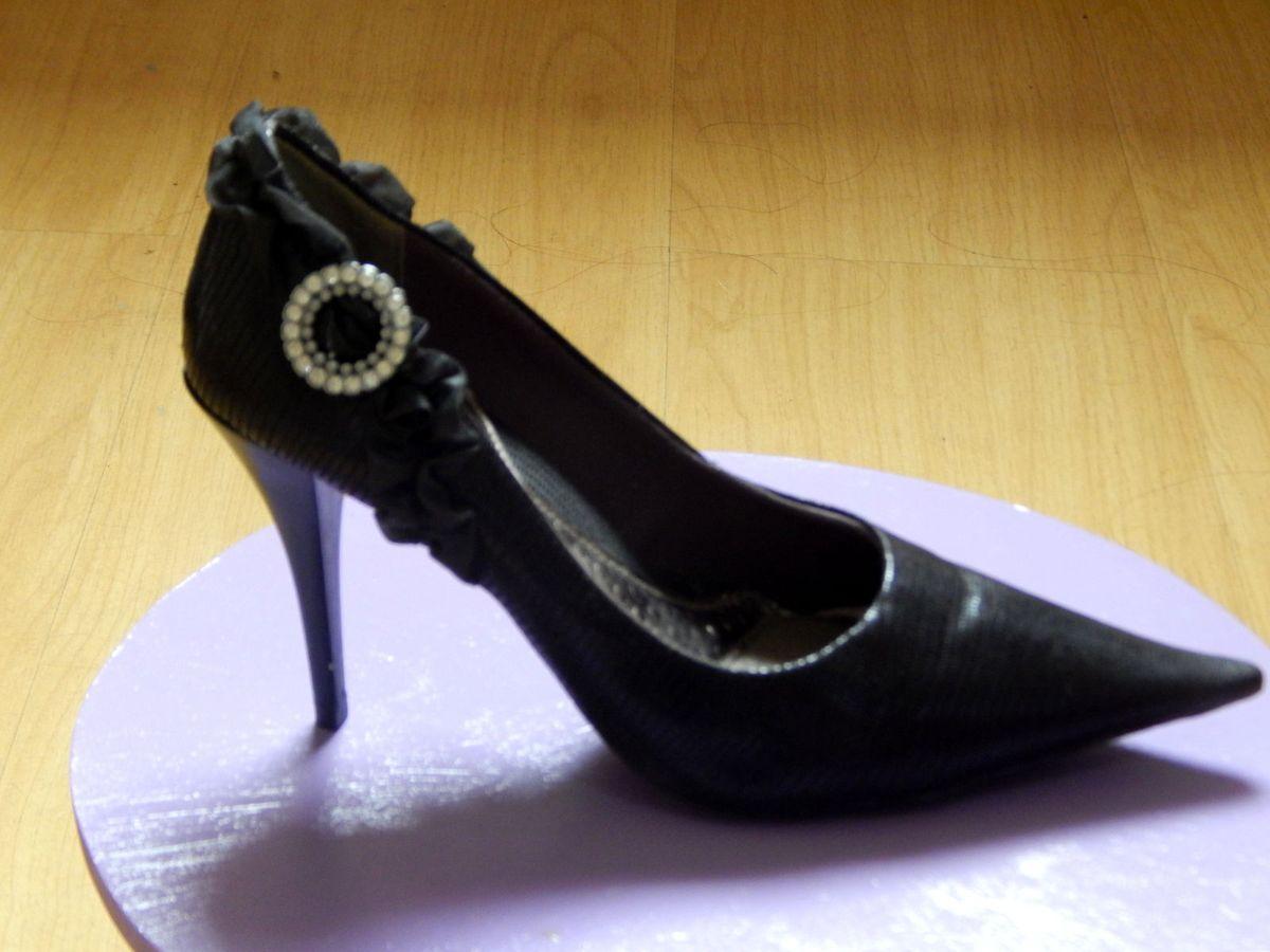 651a22fe2c scarpin preto 36 com stras e brilhos - sapatos ramarim