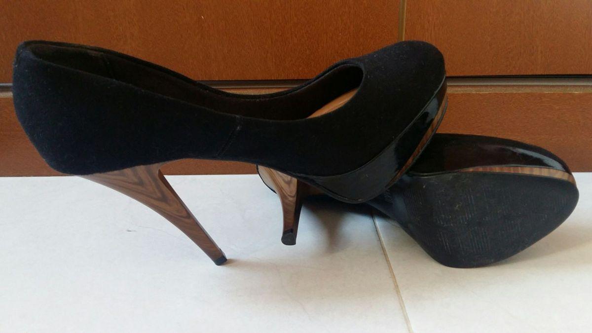 794e530ae0 scarpin vizzano salto alto bico redondo - preto - sapatos vizzano