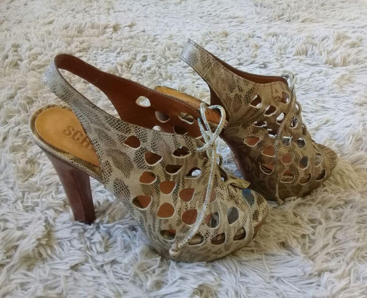 schutz amarração - sapatos schutz