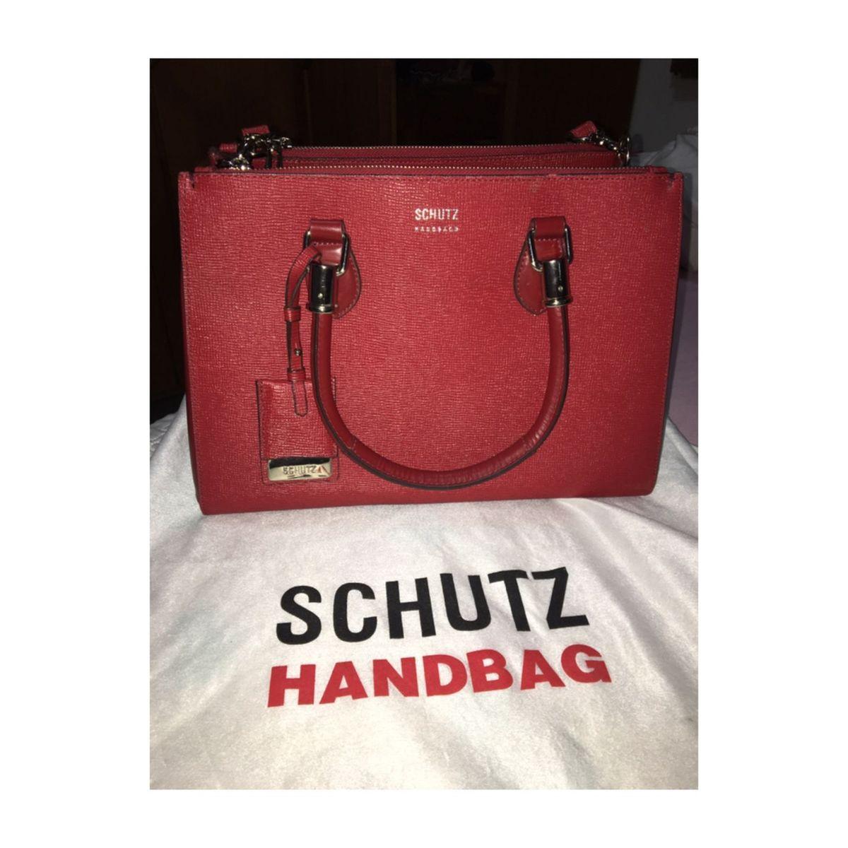 ad69f7132 Schutz Tote Lorena Red | Bolsa de Ombro Feminina Schutz Nunca Usado  30947631 | enjoei