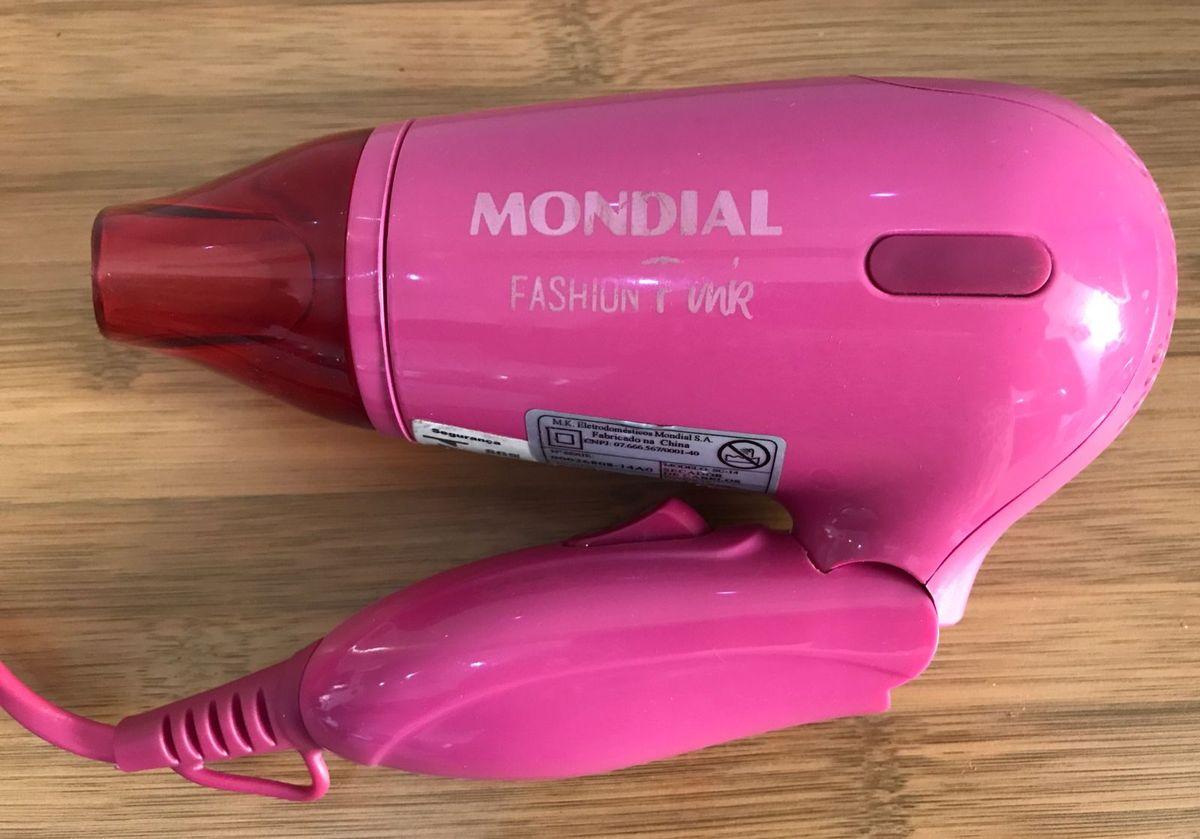 4a96c00c8 secador de cabelos fashion pink rosa mondial - eletrodomésticos mondial