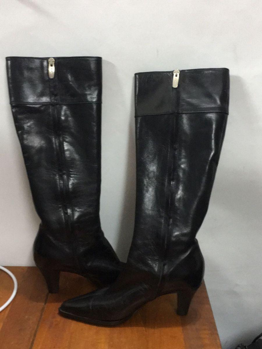 676402a8c sérgio rossi bota couro cano longo. linda original perfeita - botas sérgio  rossi