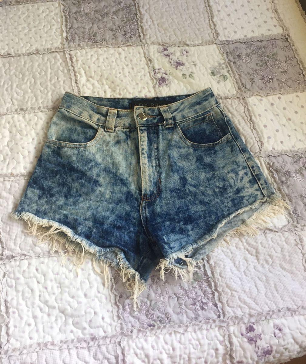 5454c165a Short Cintura Alta Lady Rock Hot Pants | Shorts Feminino Lady Rock ...