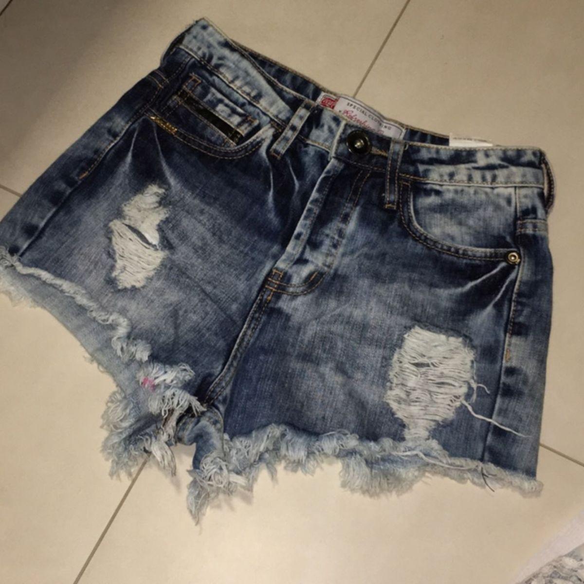 a8b517371 Short Destroyed Cintura Alta | Shorts Feminino Coca Cola Jeans Usado  20839390 | enjoei