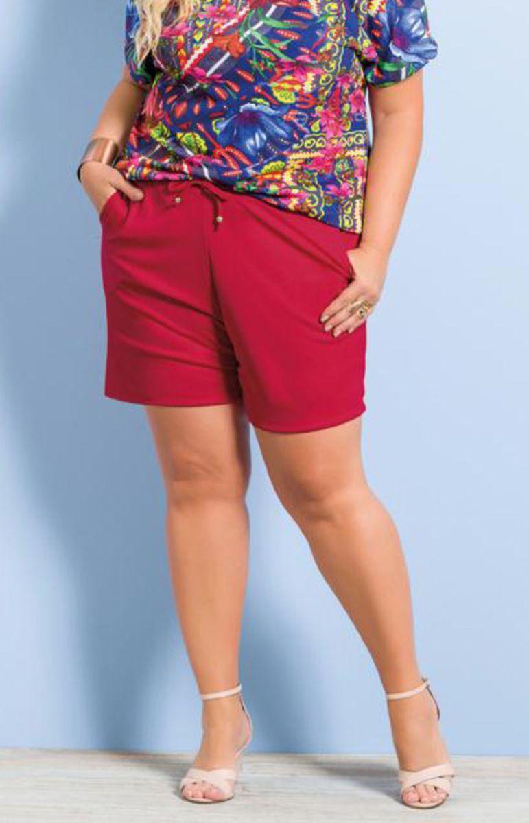 bf565aa4e Short Feminino Plus Size Soltinho | Shorts Feminino Nunca Usado ...