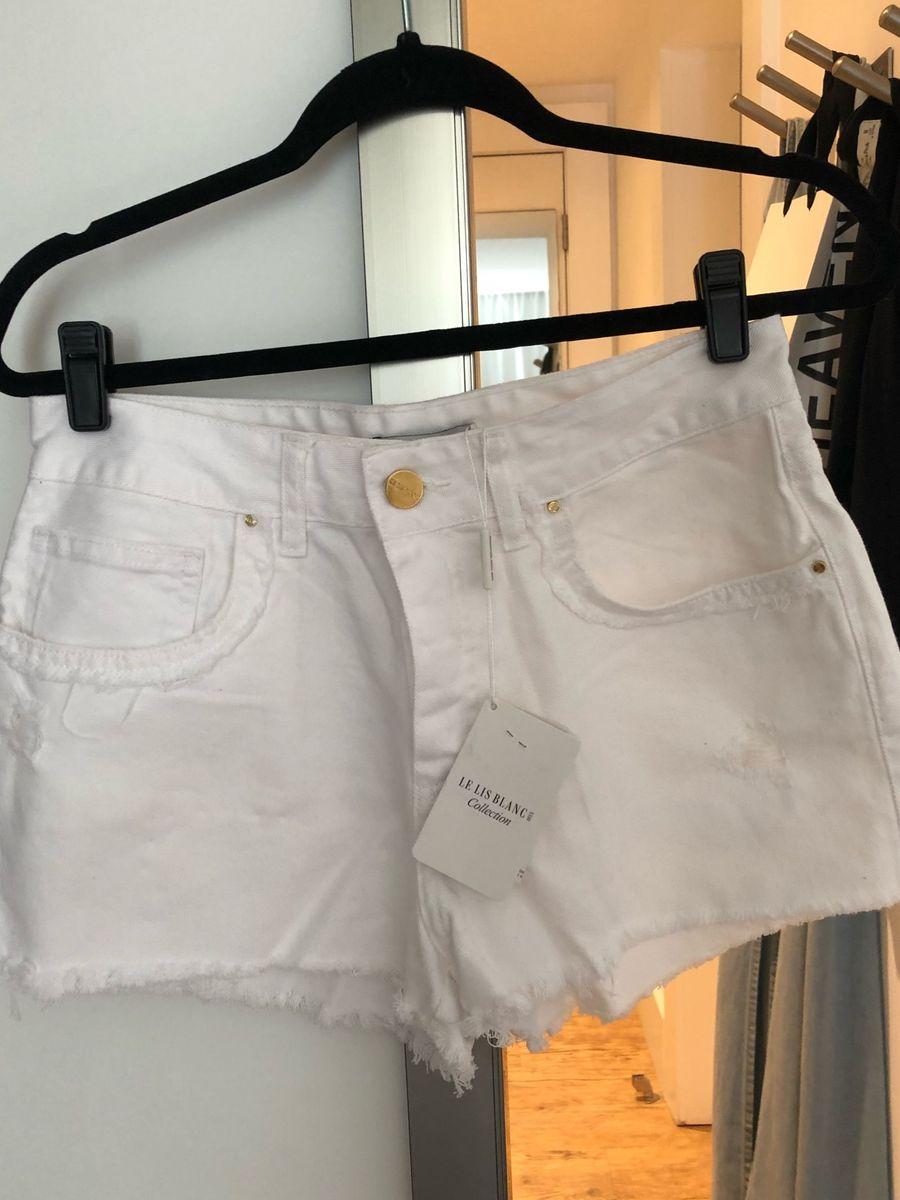 8f19517d1 Short Jeans Branco Le Lis Blanc | Shorts Feminino Le Lis Blanc Nunca ...