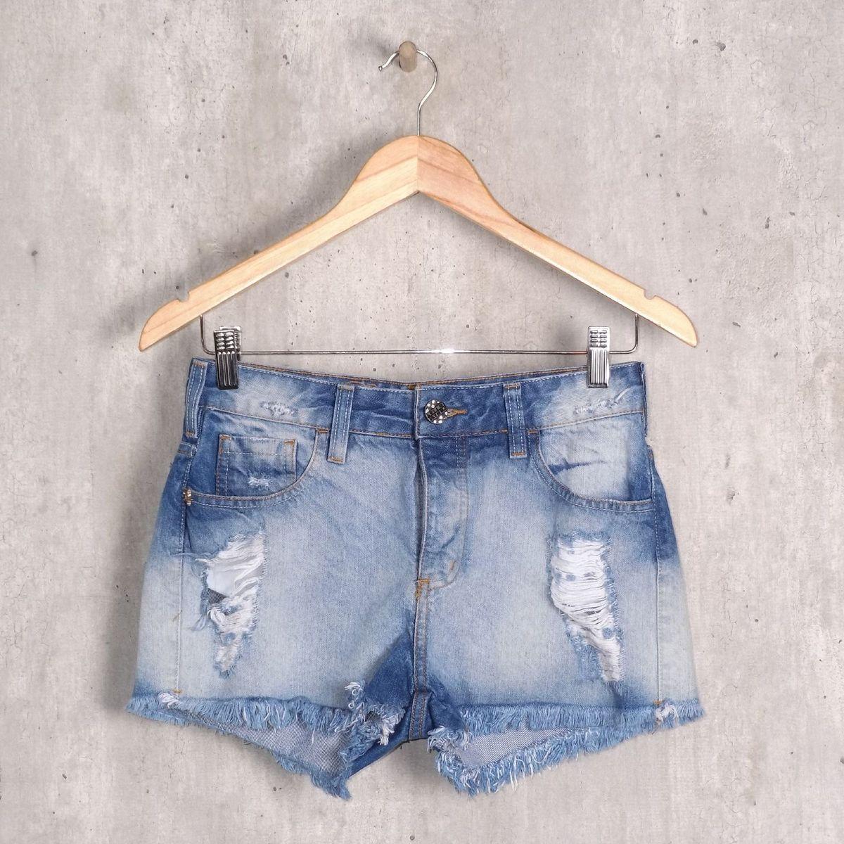 99691aba7 Short Jeans Estonado Desfiado
