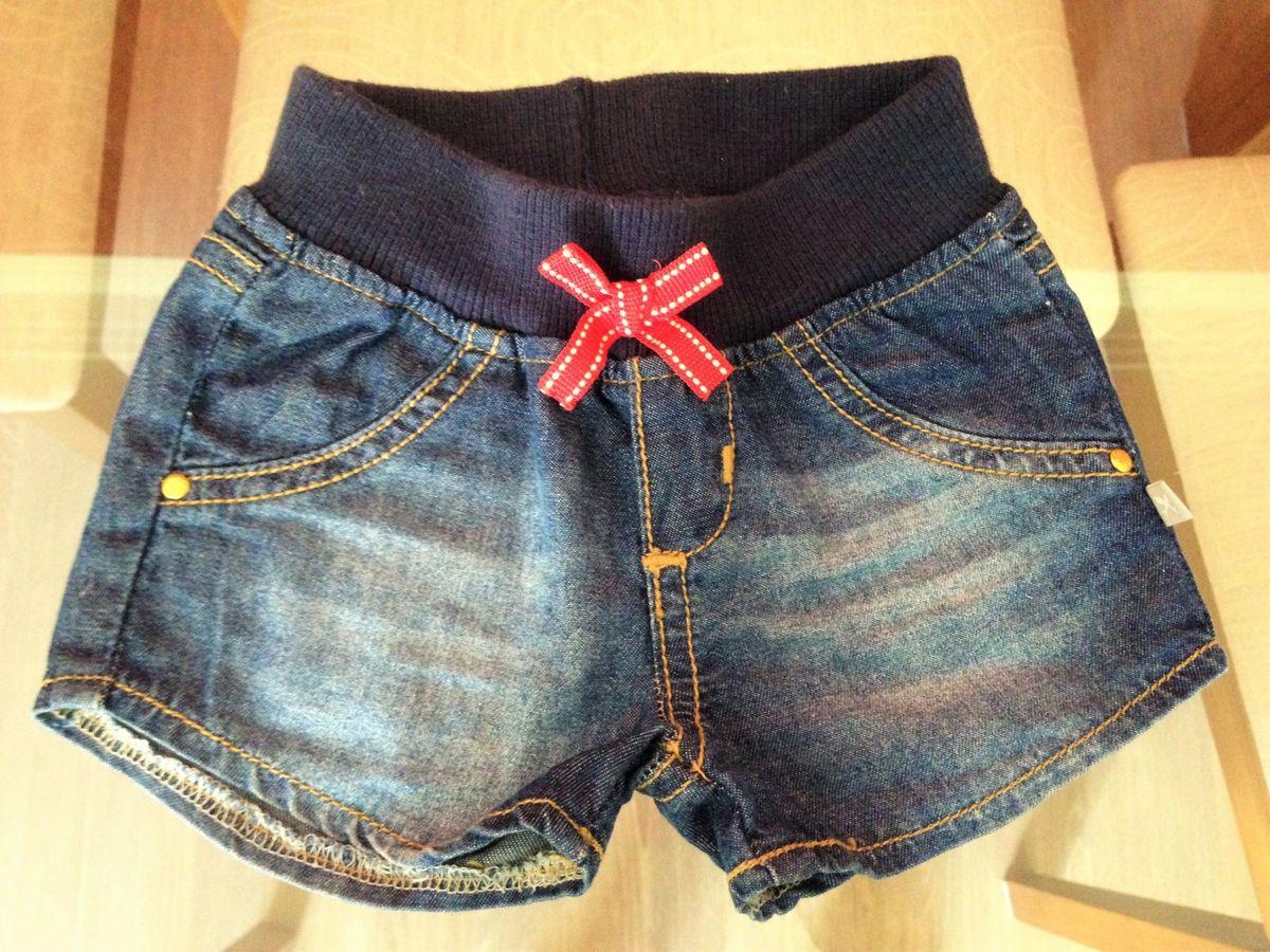 ec7102478 Short Jeans para Bebe - Cos em Elastico | Roupa Infantil para Bebê ...