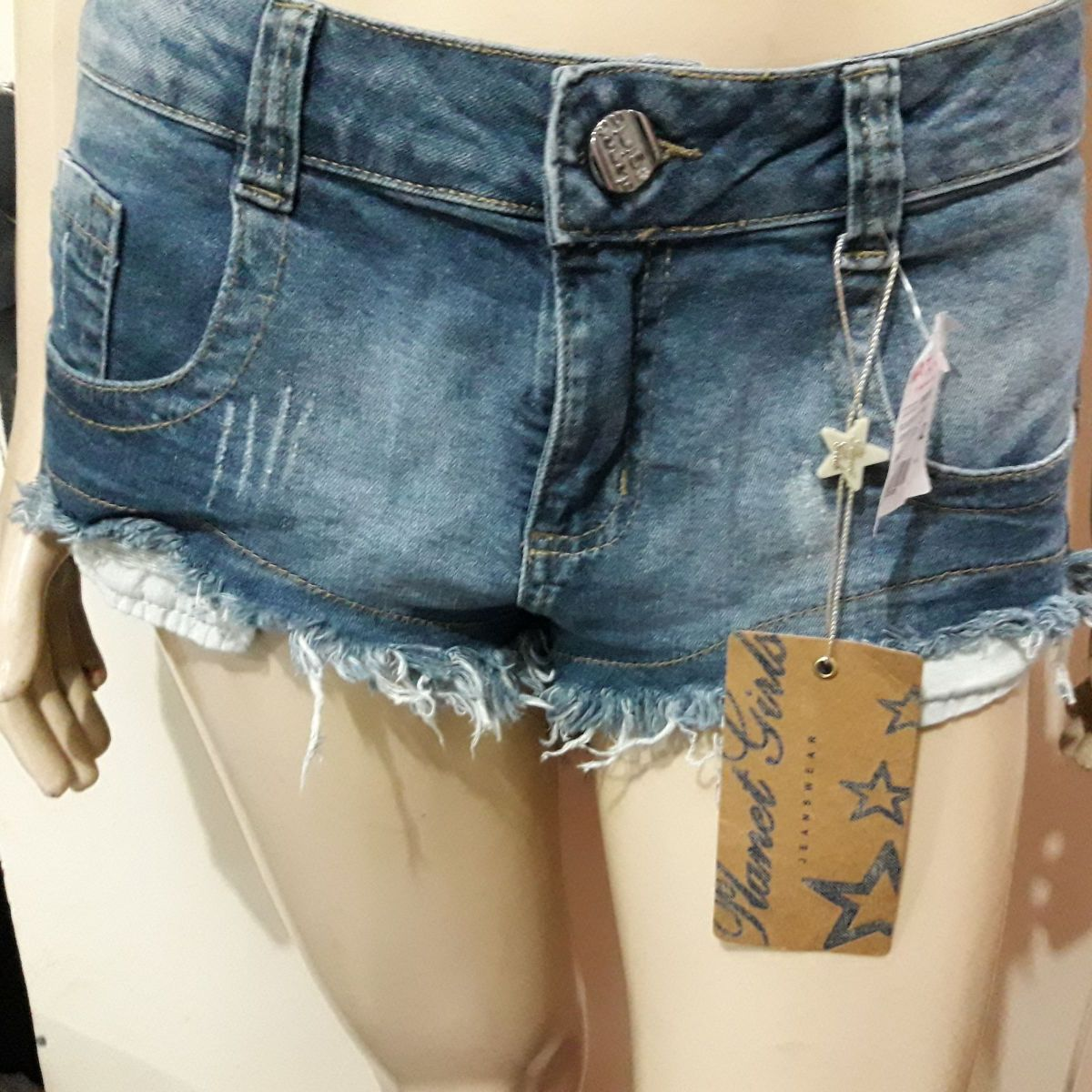8fac8489a Short Jeans Planet Girls Original Desfiado Curto Na Frente