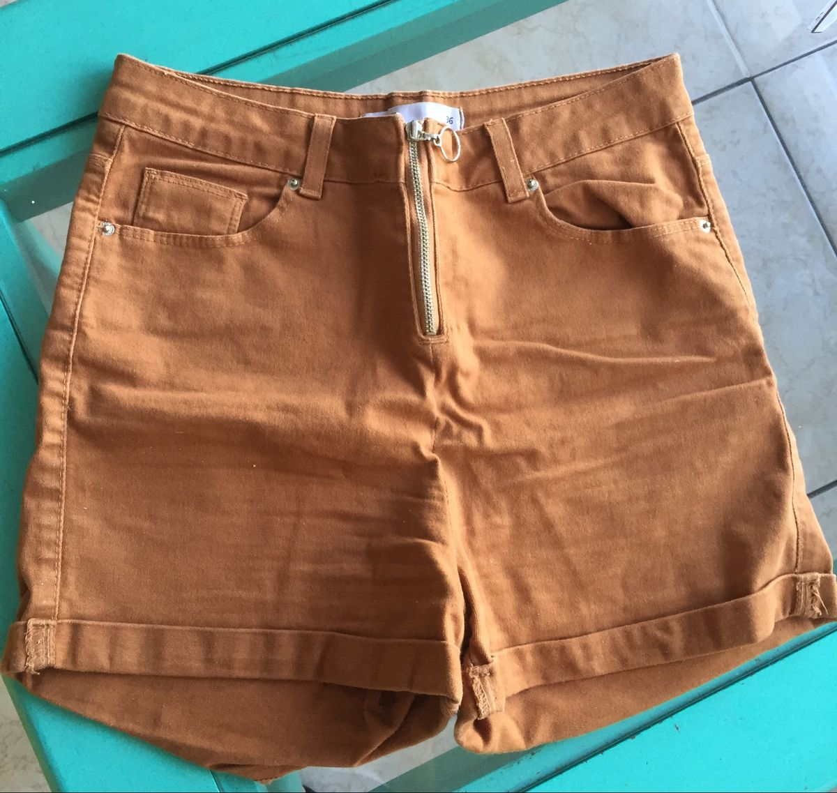 shorts cintura alta - short clock house