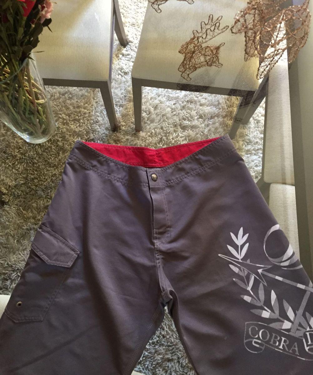 076602cd6 Shorts Cinza Cobra D'agua | Bermuda Masculina Cobra D'agua Usado ...