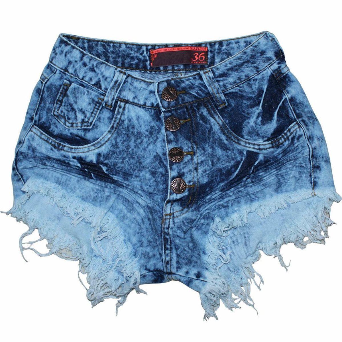 6f3d9f0c7 Shorts Jeans Cintura Alta Desfiado Hot Pants Diversos Botões | Shorts  Feminino Lilies Nunca Usado 26170446 | enjoei