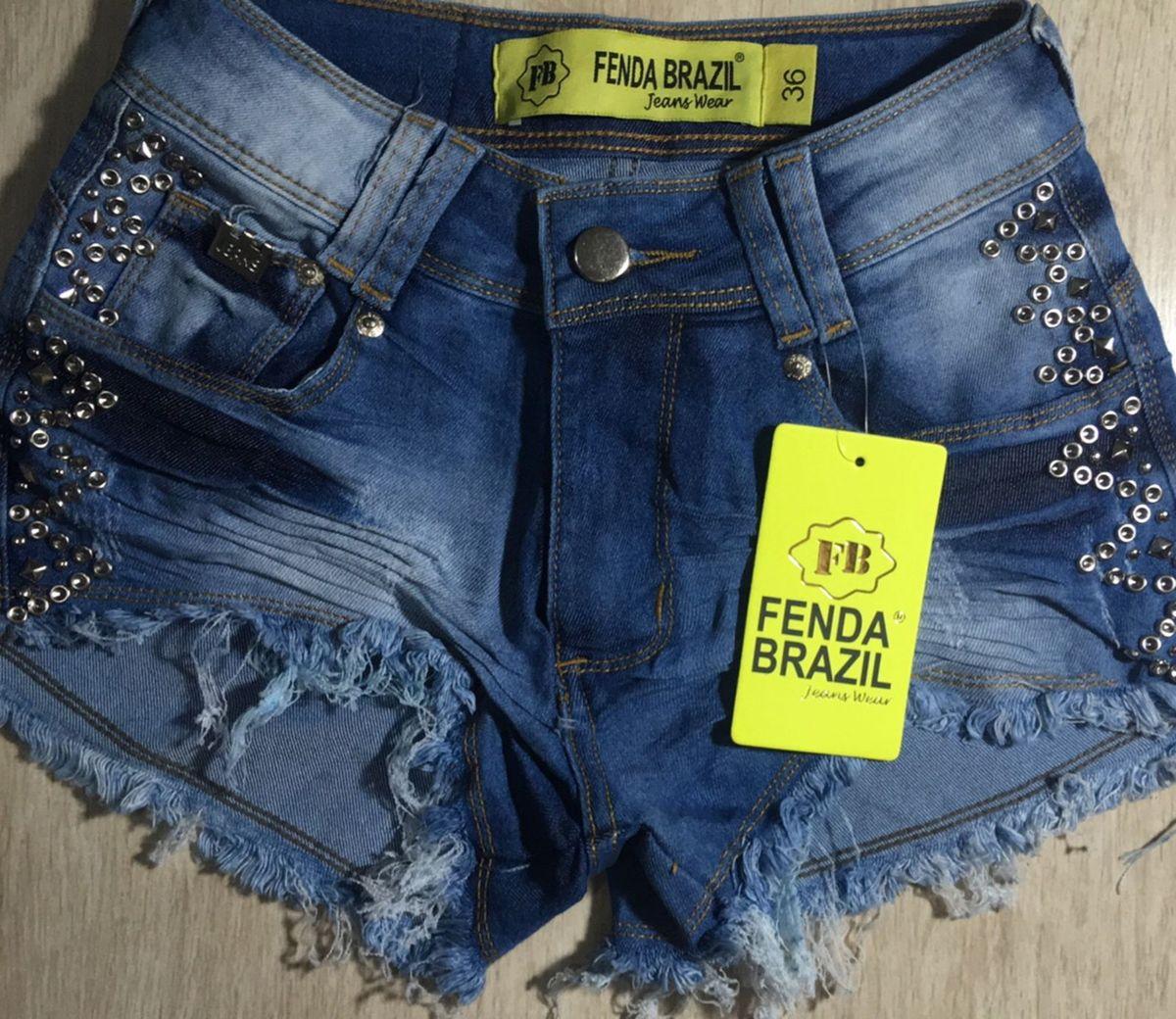 shorts jeans hot pant fenda brasil - short fenda-brasil 71bbd1ab8e7