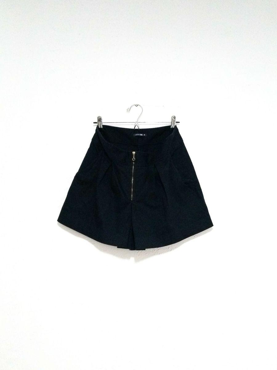 shorts saia pretinho básico - short just-be