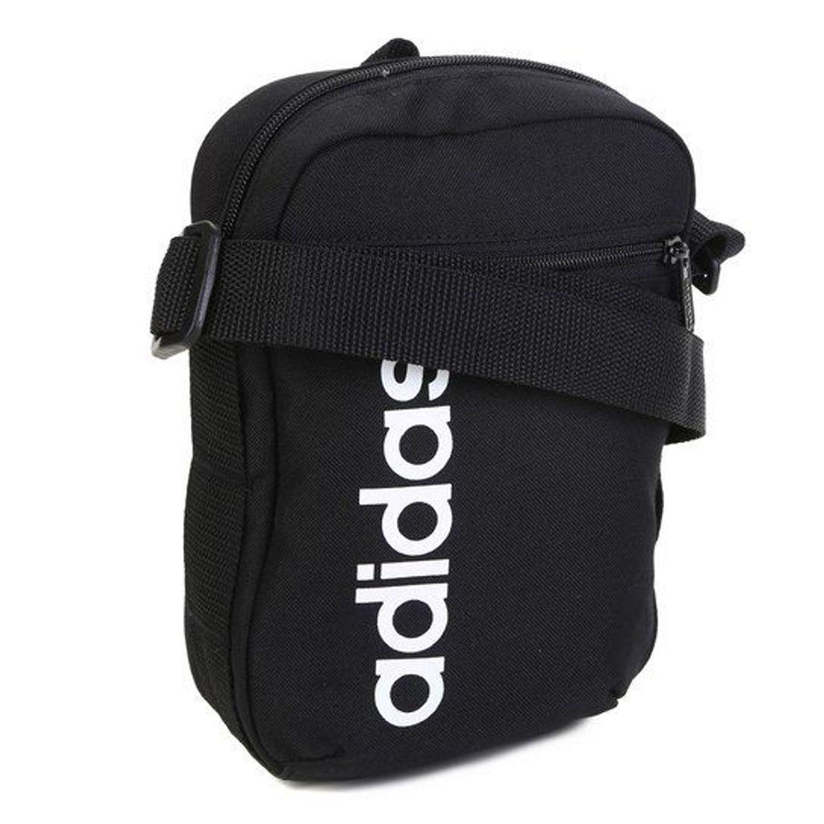 e2868886a Shoulder Bag Adidas Linear Core Pochete Preto Original   Bolsa Masculina  Adidas Nunca Usado 33267220   enjoei