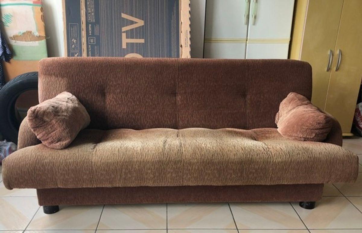Sofa Cama Casal 4 Lugares Sofa Usado 42749230 Enjoei