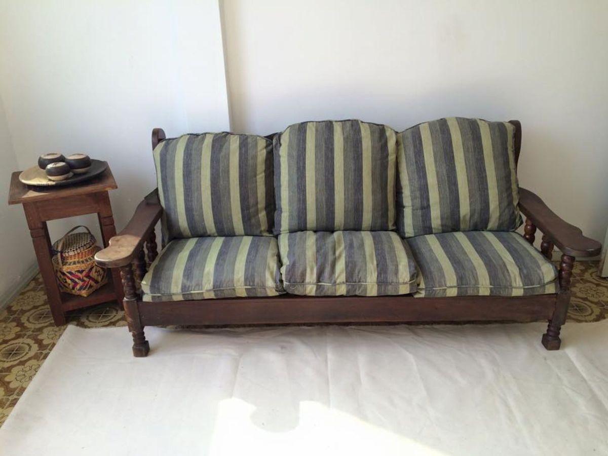 Sofá Madeira Maciça   Sofá Usado 16066045   enjoei