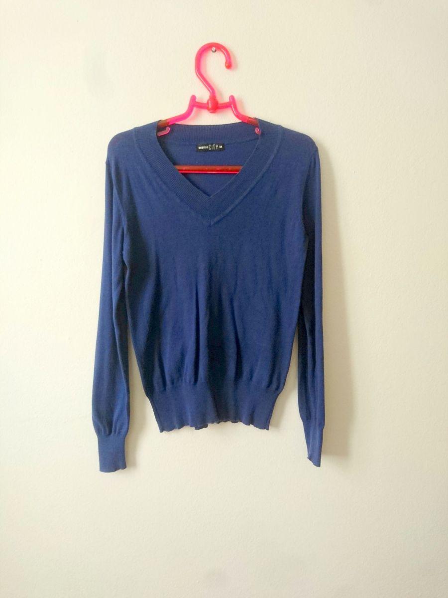 suéter azul - blusas marisa