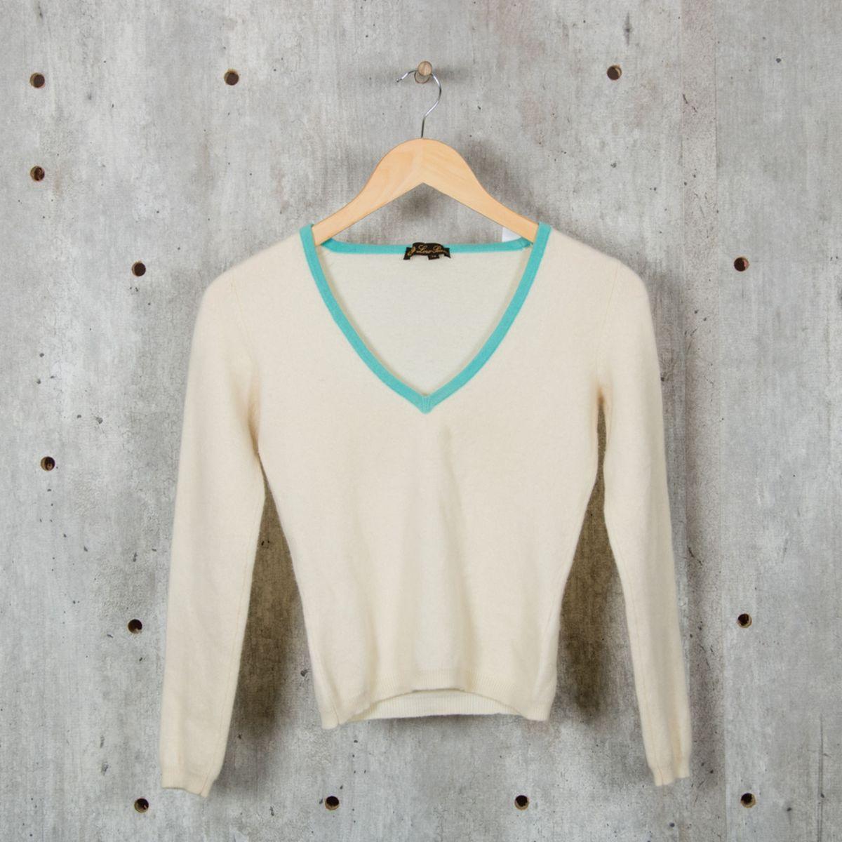 6b3aef661 Suéter de Cashmere Creme   Blusa Feminina Loro Piana Usado 26079345   enjoei