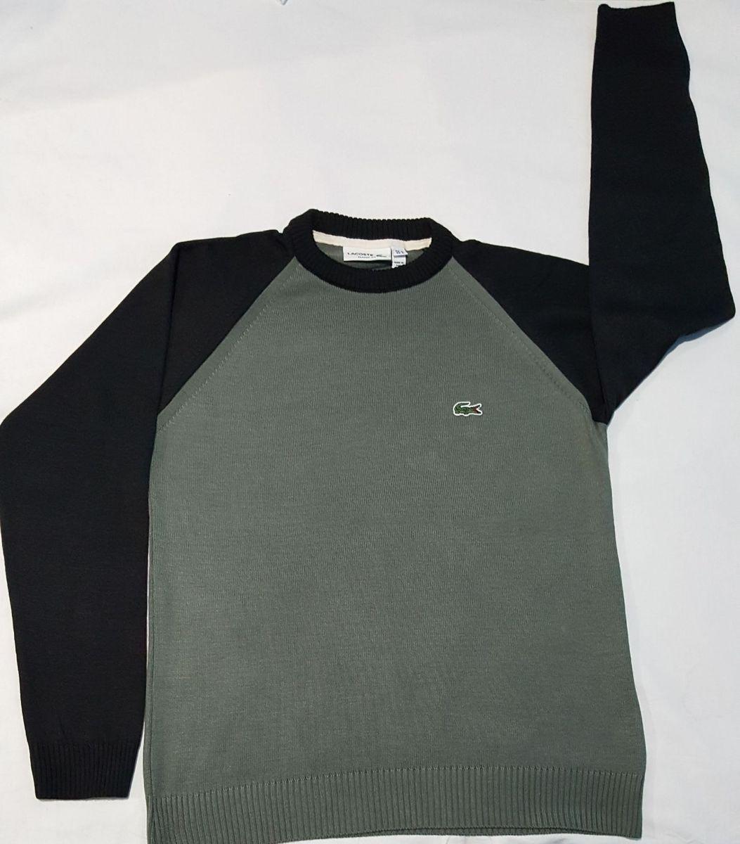suéter masculino da lalá cinza escuro p - casacos outras